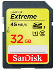 SanDisk 32GB Extreme SDHC card
